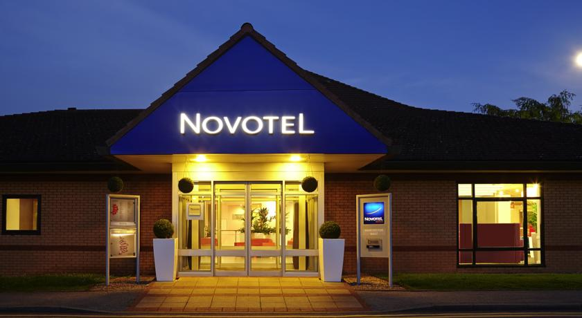 Novotel Hotel Manchester West Exterior at night