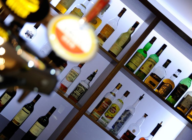 Mercure London Bloomsbury Bar - Bottles of Drinks