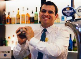 Novotel Hotel Nottingham Derby, barman shaking cocktail