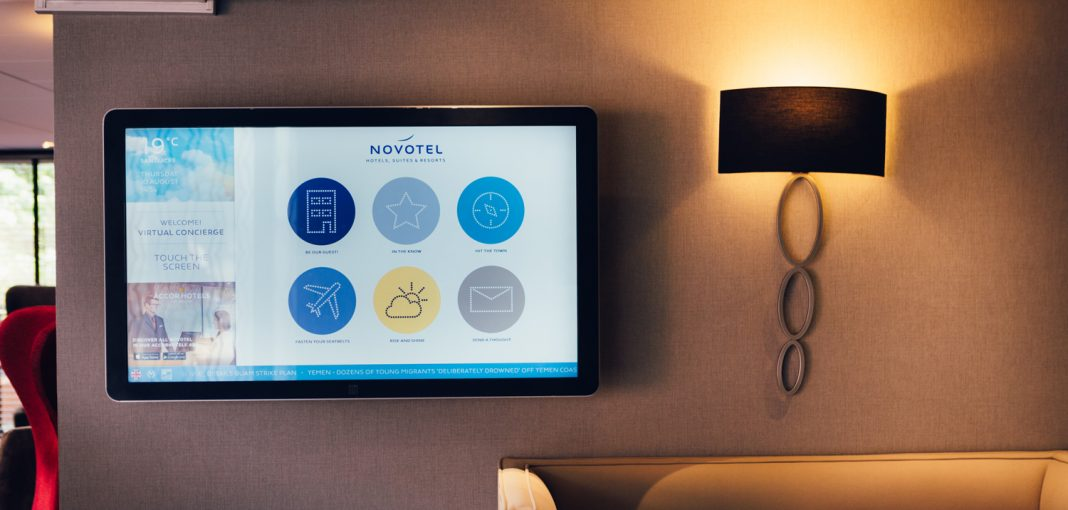 Novotel Hotel Nottingham Derby, Touchscreen at Reception