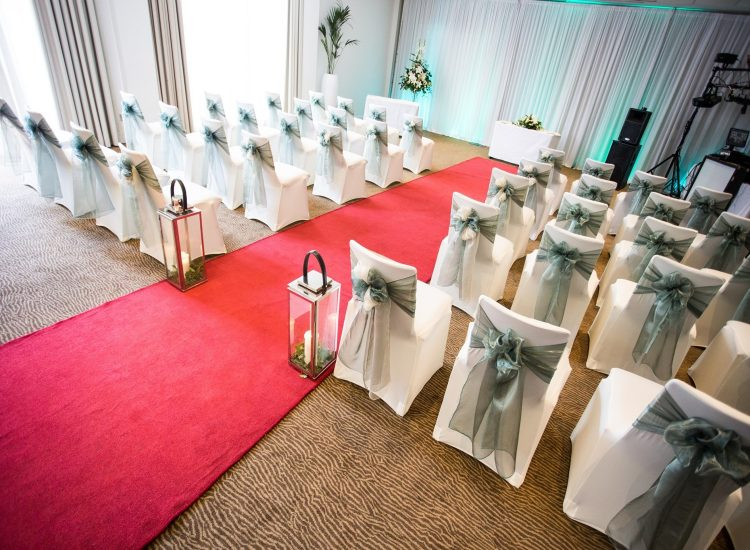Novotel Newcastle Hotel Weddings Ceremony Green Decor