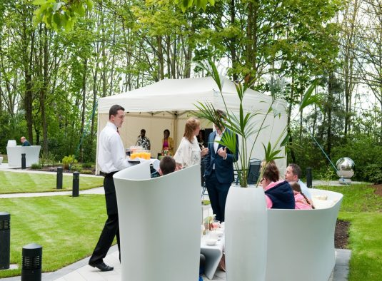 Novotel Newcastle Hotel Weddings Marquee in Garden Serving Drinks