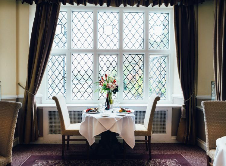Mercure Hotel Letchworth Hall, Lyttons Restaurant - Table for Two by the window